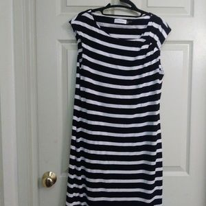 Calvin Klein striped dress size 12